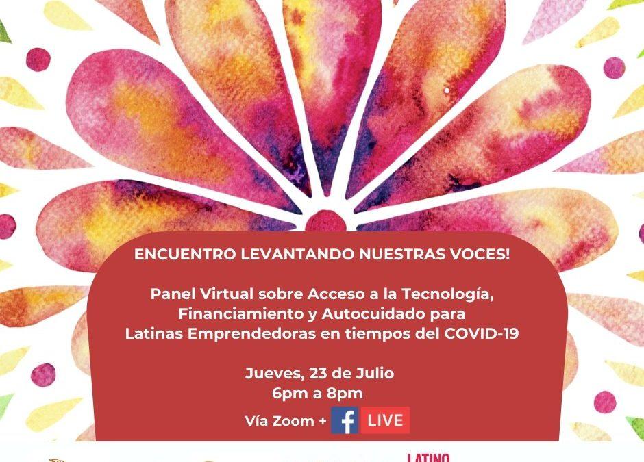 Panel Virtual sobre Acceso a la Tecnología, Financiamiento y Autocuidado para Latinas Emprendedoras en tiempos del COVID-19