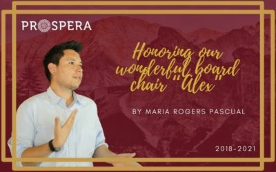 """Honoring our wonderful board chair """"Alex"""" by Maria Rogers Pascual"""